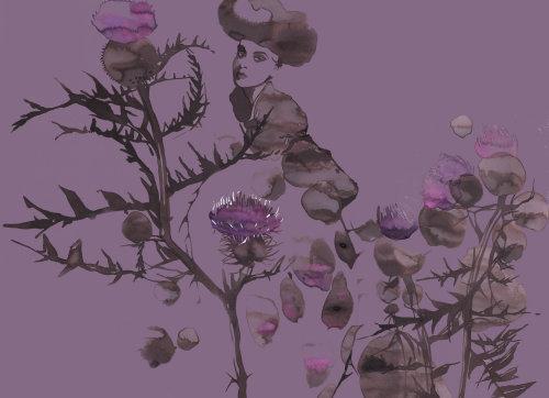 illustration aquarelle d'arbres