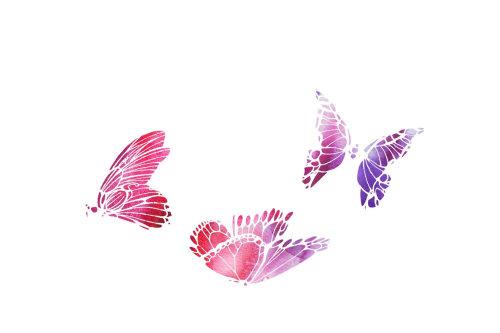 papillons de peinture aquarelle