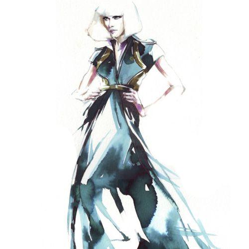 Beauty posing in fashion dress