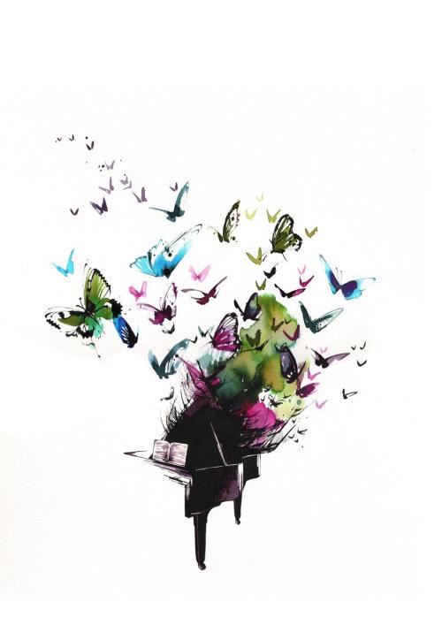 illustration de papillon aquarelle