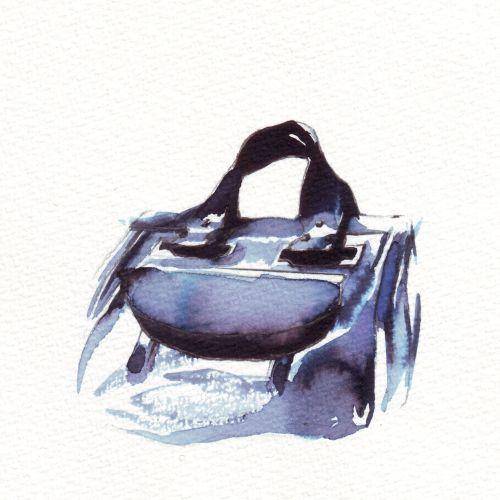 Loose color illustration of bag