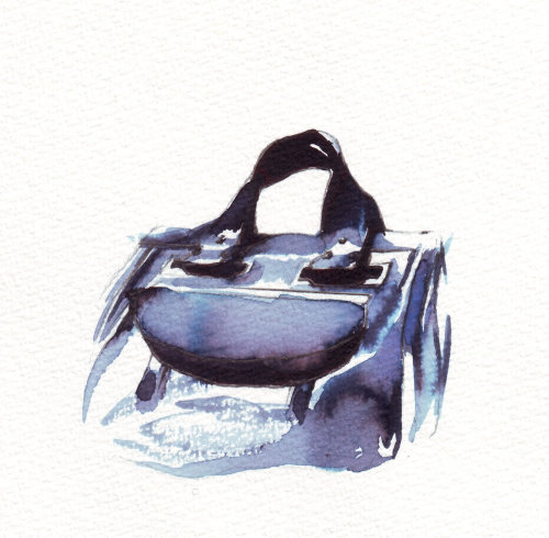 Loose color illustration of bag