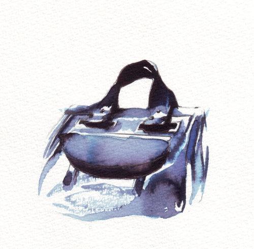 Illustration couleur lâche du sac