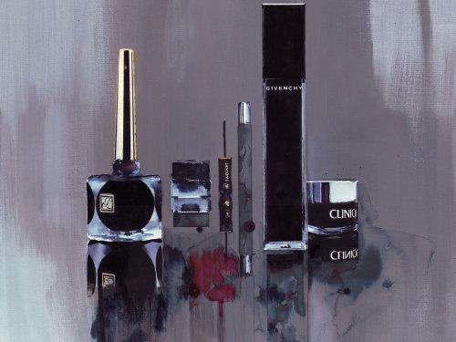 illustration aquarelle de produits de beauté