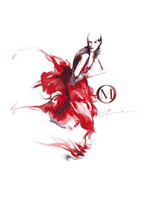 Mode femme en robe rouge