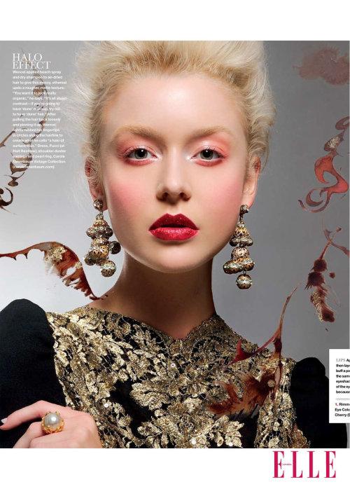 Portrait de modèle Fashion Elle
