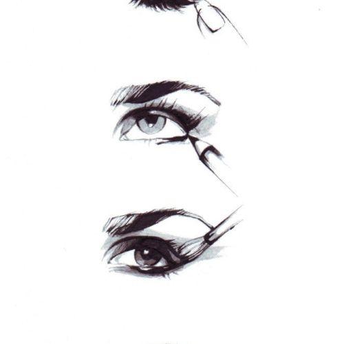 beauty illustration of eye lashes