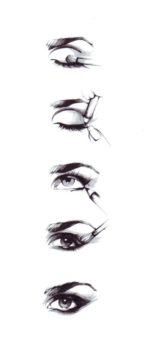 beauty illustration of eye lashes