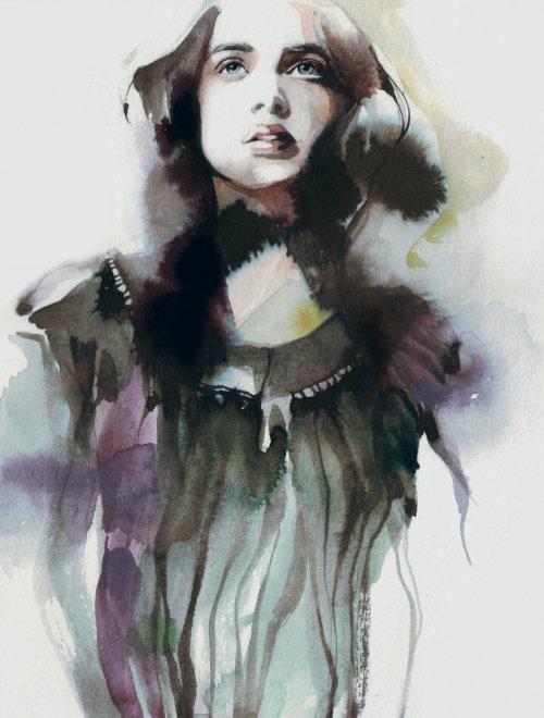 People water color art of girl