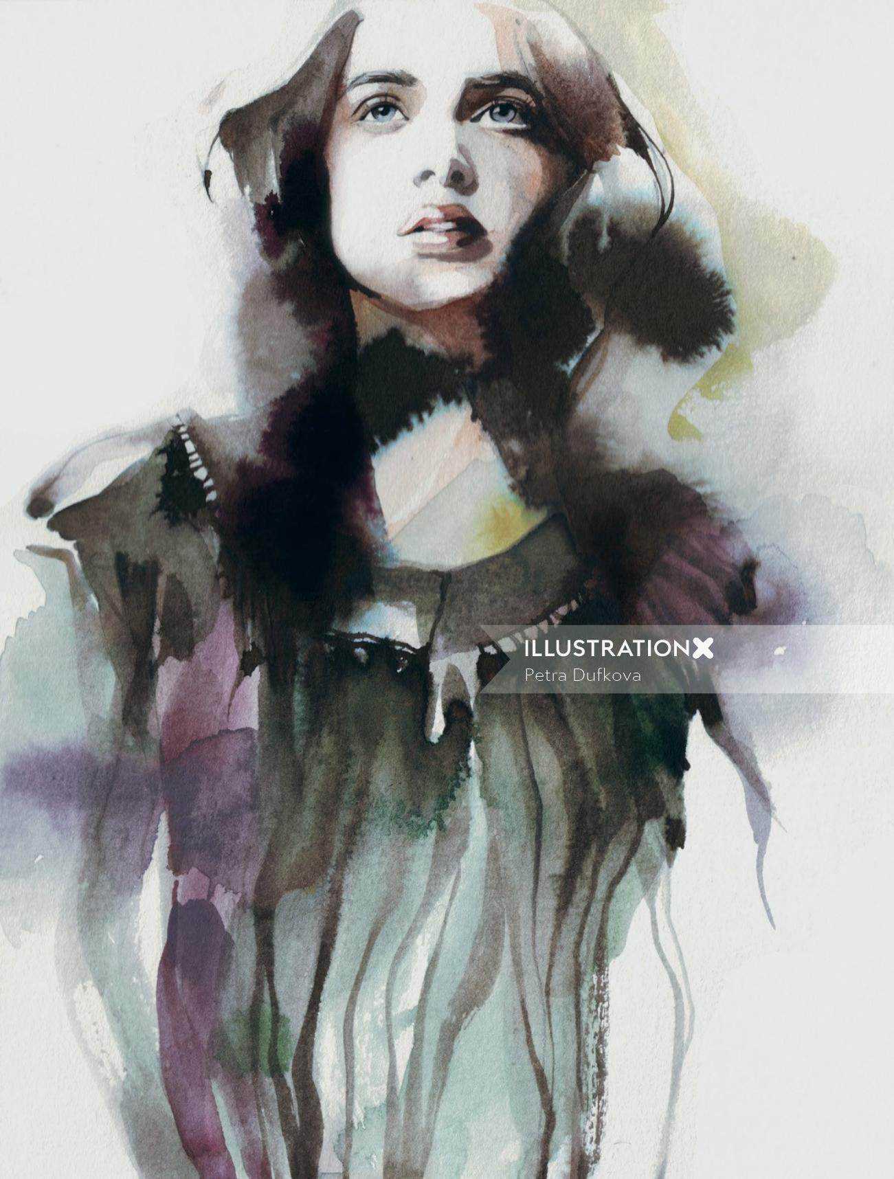Petra Dufkova illustrator - painting illustration