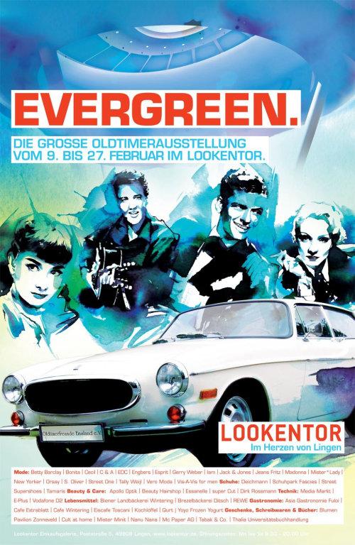 Illustration d'encre de célébrités et de voiture