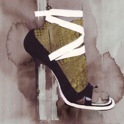 Watercolor fashion sandal