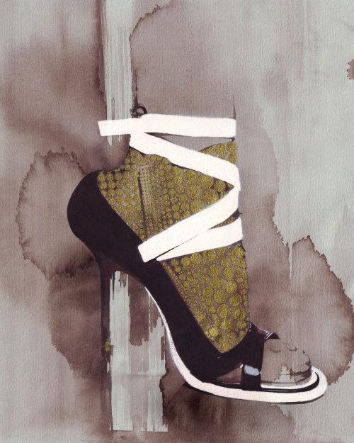 Sandale de mode aquarelle