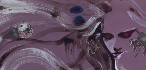 Cheveux de mannequin volant