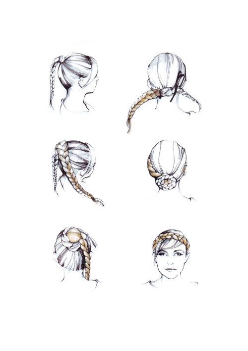 Illustration de mode de femme aux cheveux longs