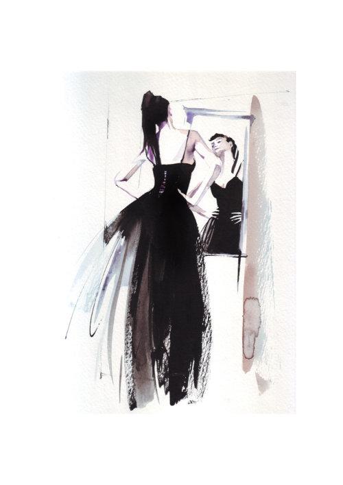 Illustration de mode robe noire