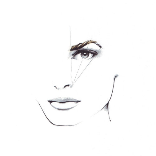 Visage de beauté illustratiion