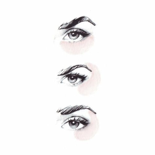 Beauty illustration of eyes