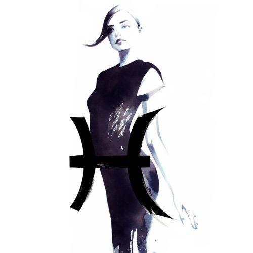 watercolor illustration of stylish woman