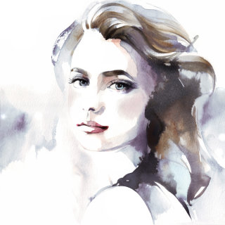 Portrait lady illustration