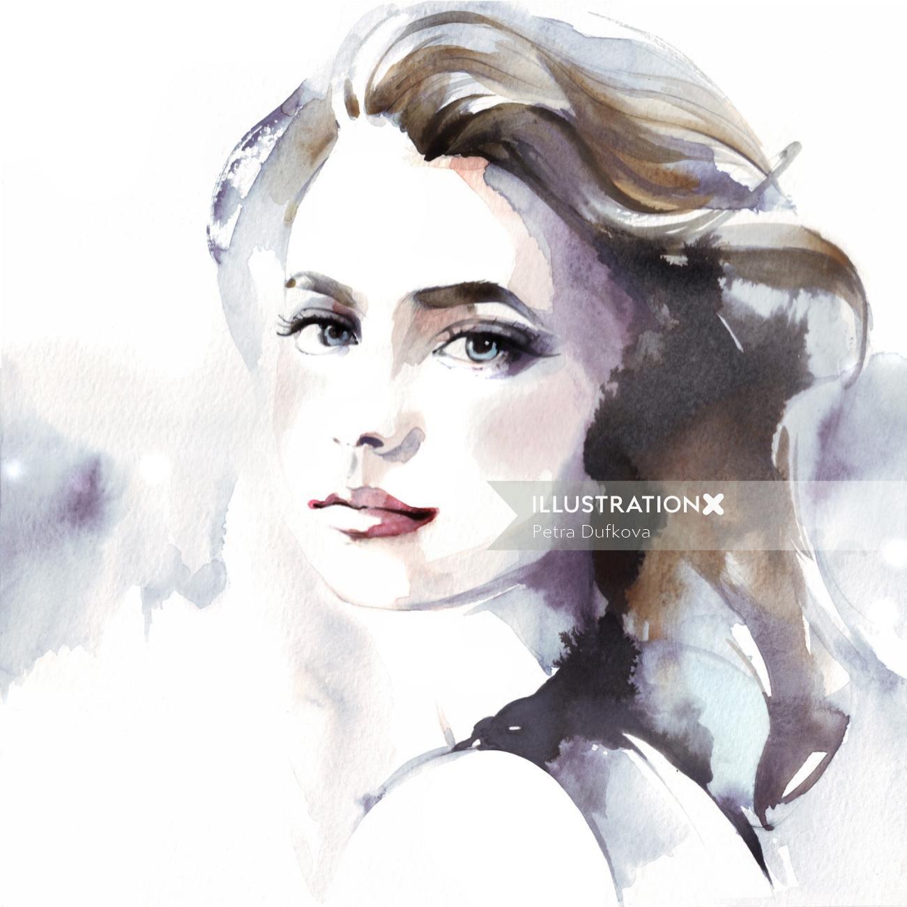 Portrait lady illustration