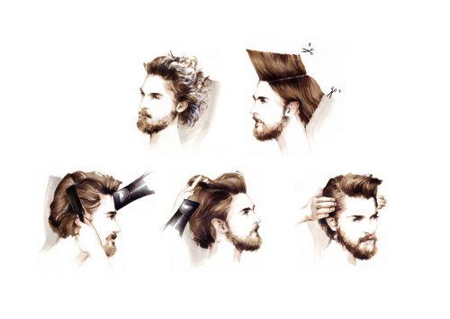 Illustration de la beauté de l'homme de style