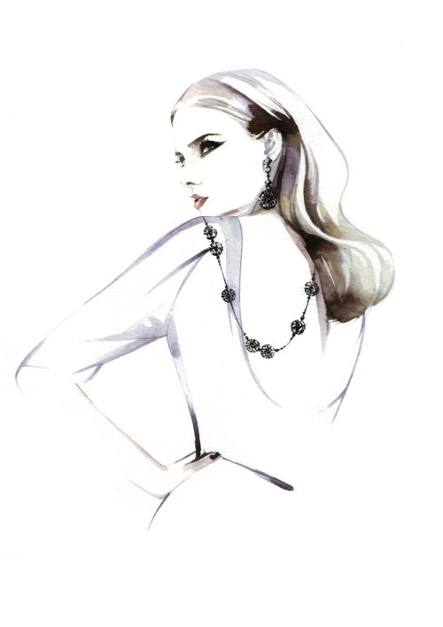 Beauty fashion illustration