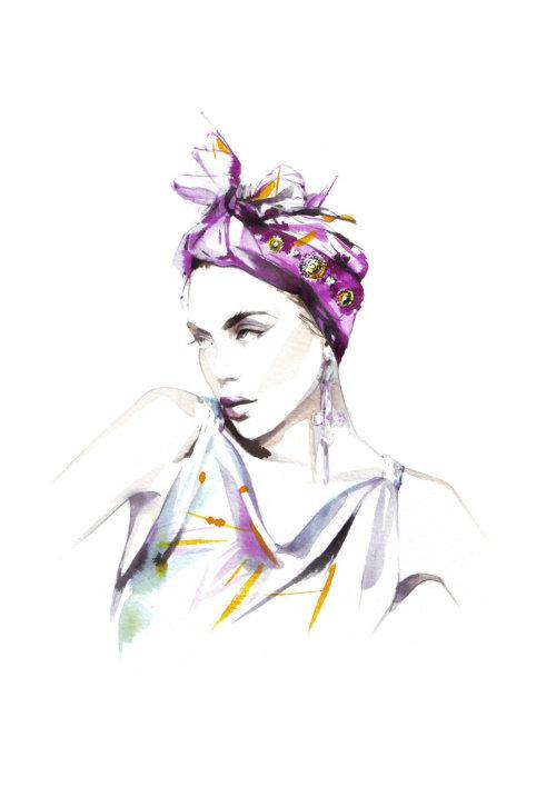 Modèle de femme aquarelle beauté illustration