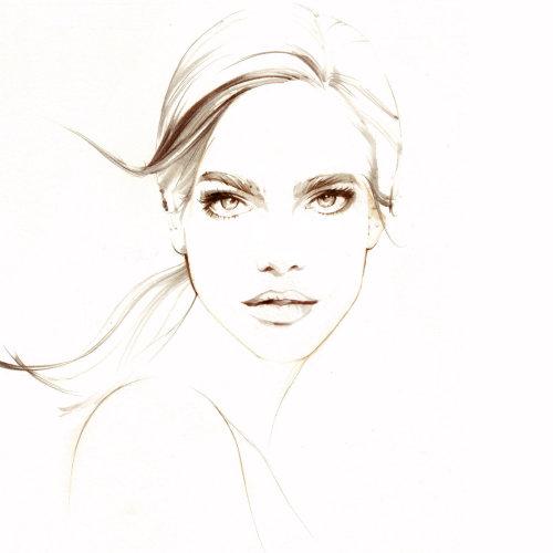 Illustration de ligne de mode beauté