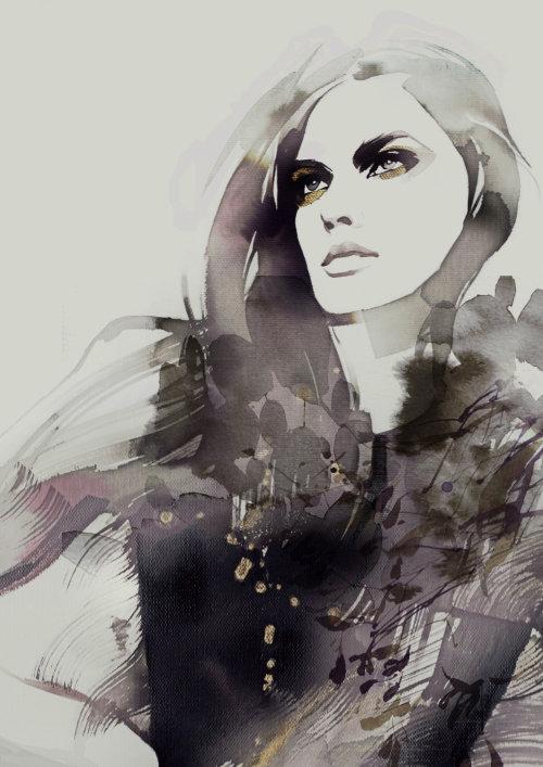 Illustration de femme mode gens