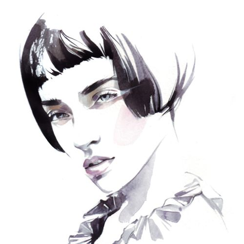 Beauty illustration of female model