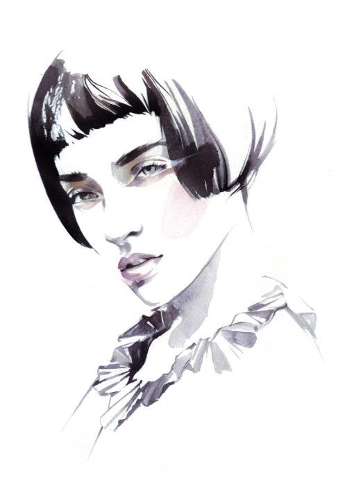 Illustration de la beauté du modèle féminin