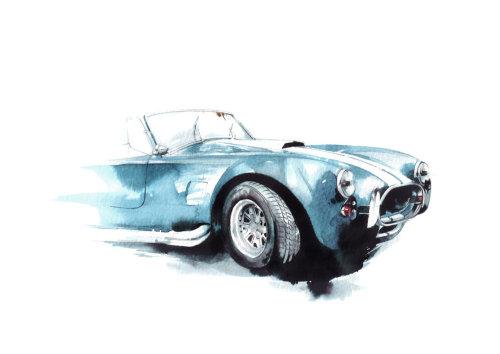 Art aquarelle de voiture