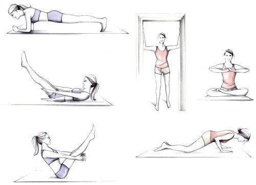 Illustration of yoga poses