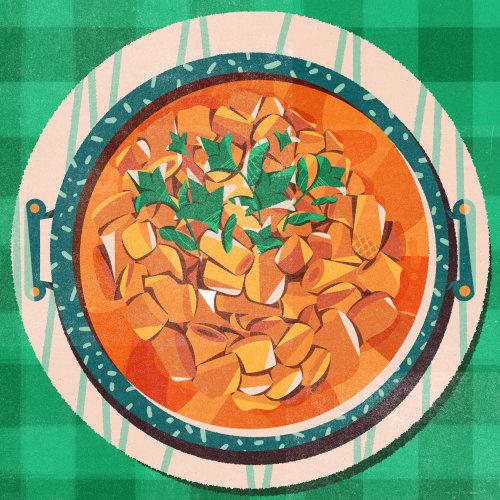 Food & Drinks on plate