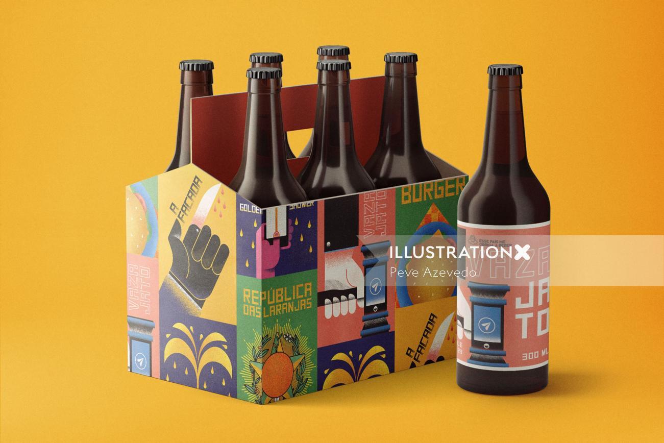Conceptual drink case