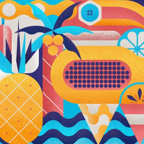 Graphic design colorful pattern