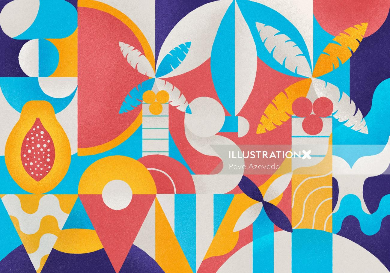 Graphic Nature pattern