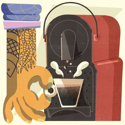Graphic Coffee Machine