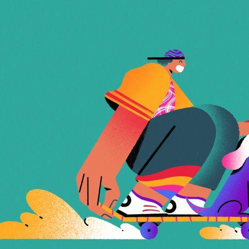 People Boy using skateboard