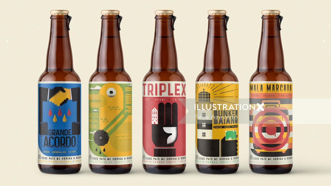 Food & Drink Triplex bottles