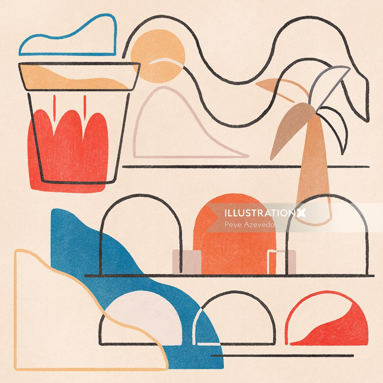conceptual line illustrations