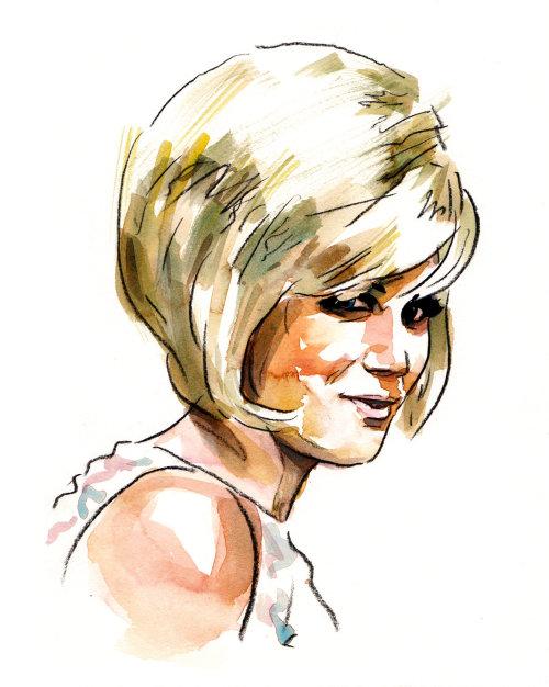 A Woman Portrait  Line and color