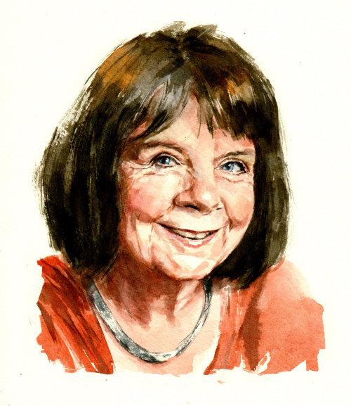 Portrait artwork of Julia Donaldson