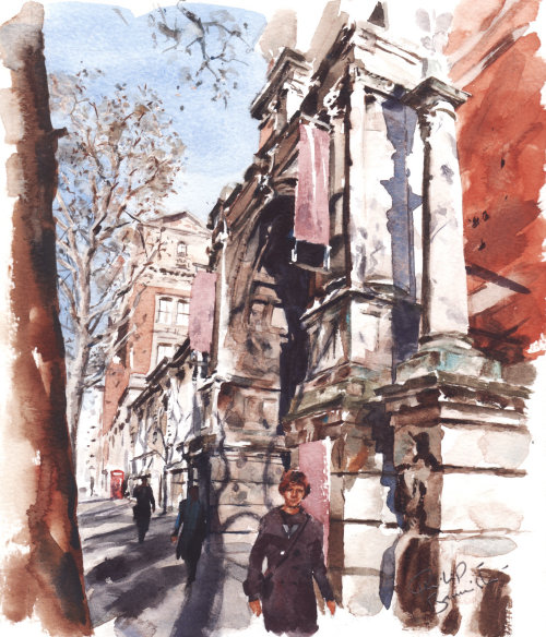 Painting of Victoria and Albert Museum