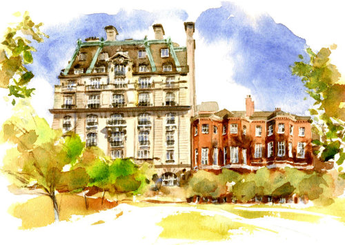 The Ritz illustration by Philip Bannister