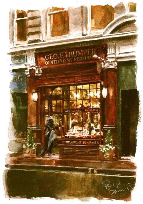 G.F.Trumper, Jermyn Street - An illustration by Philip Bannister