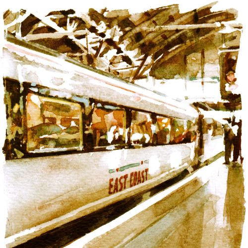 Train illustration by Philip Bannister