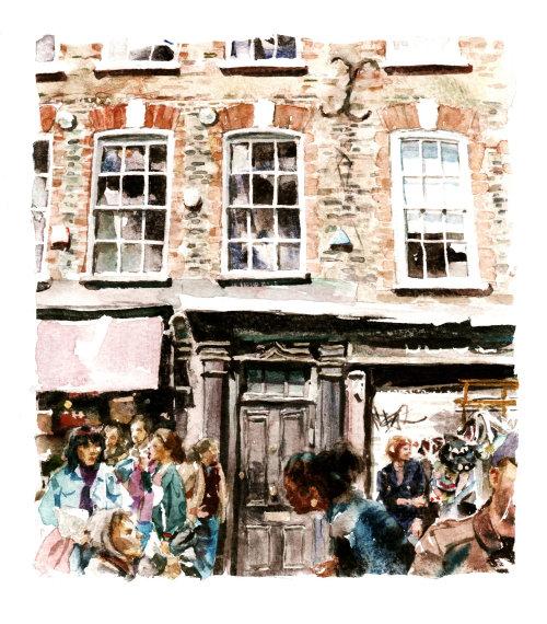 Spitalfields illustration by Philip Bannister