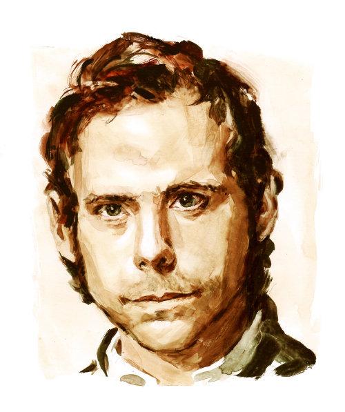 Portrait of Bryce Dessner illustration by Philip Bannister